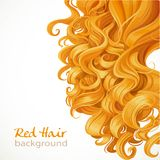 Red hair background Stock Images