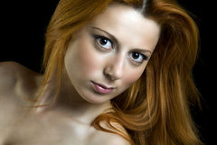 Red hair beautiful woman Royalty Free Stock Photos