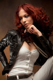 Red hair beauty stock images