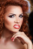 Red hair beauty Stock Image