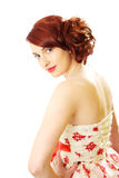Red hair beauty 50s style Royalty Free Stock Images