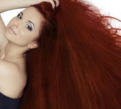 Red hair beauty Stock Photography