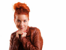 Red Hair Beauty Smiling Royalty Free Stock Images