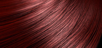 Red Hair Blowing Closeup Stock Images
