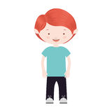 Red hair boy with informal suit Stock Photo