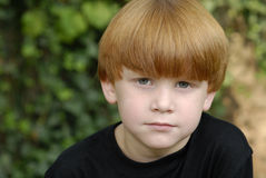 Red hair boy portrait Royalty Free Stock Images