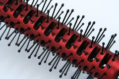 Red hair brush royalty free stock images