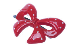 Red Hair Clip Macro Isolated Royalty Free Stock Image