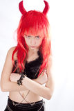 Red hair devil girl Royalty Free Stock Photos