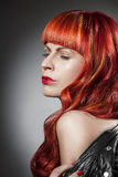 Red Hair. Fashion Girl Portrait Royalty Free Stock Image