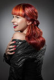 Red Hair. Fashion Girl Portrait Stock Image