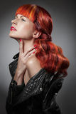 Red Hair. Fashion Girl Portrait Royalty Free Stock Images