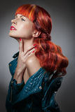 Red Hair. Fashion Girl Portrait Royalty Free Stock Photography