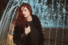 Red hair fashion model Stock Photo