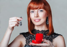 Red Hair. Fashion Woman Portrait. Royalty Free Stock Image