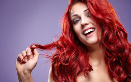 Red Hair. Fashion womanl Portrait Royalty Free Stock Image