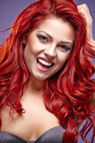 Red Hair. Fashion womanl Portrait Royalty Free Stock Photo