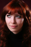 Red Hair Girl Stock Photography