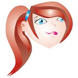 Red hair girl Stock Images