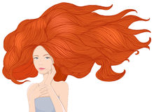 Red hair girl Stock Photo