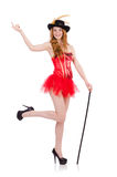 Red hair girl in carnival costume isolated on Stock Images