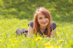 Red hair girl Royalty Free Stock Photography