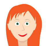 Red hair girl face with Stock Photo