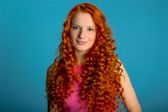 Red hair girl Stock Photos