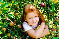 Red hair girl in the park Stock Photography