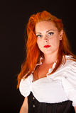 Red hair girl in pin-up style Royalty Free Stock Photography