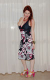 Red hair model with summer dress Royalty Free Stock Images
