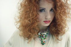Red hair natural beauty portrait 3 Royalty Free Stock Photos