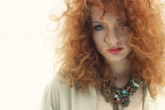 Red hair natural beauty portrait 2 Royalty Free Stock Image