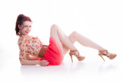 Red hair pinup Stock Photography