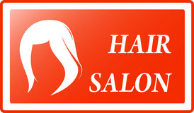 Red hair salon background Royalty Free Stock Photos