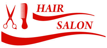 Red hair salon symbol Stock Images