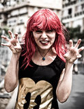 Red hair scary costume Royalty Free Stock Images