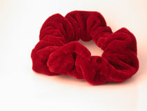Red Hair Scrunchy Royalty Free Stock Images