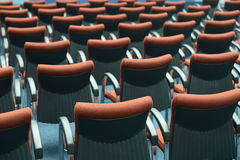 Red hair seats Stock Photos