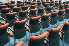 Red hair seats Stock Photo