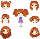 Red hair set Stock Photography