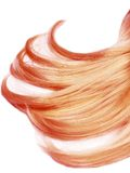 Red hair strands. Gingery hair strands isolated on white background Stock Photos