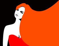 Red hair woman Royalty Free Stock Photography