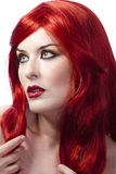 Red Hair woman. Fashion Girl Portrait Stock Images