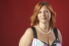 Red hair woman Royalty Free Stock Photo