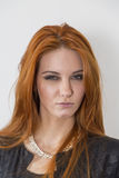 Red hair woman stock image