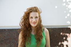 Red hair woman portrait Royalty Free Stock Photo