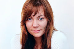 Red hair woman portrait Royalty Free Stock Photography