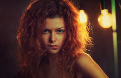 Red hair woman portrait Stock Photography