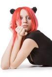 Red hair woman posing in studio Royalty Free Stock Image
